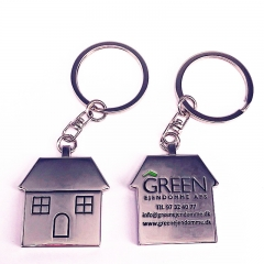Custom Made Double Sided Metal House Key Ring Holder