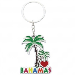 Customised Enamel Bahamas Souvenir Key Rings