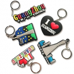 Custom Made Soft PVC Souvenir Key Rings
