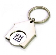 Customised House Trolley Coin Key Ring Holder