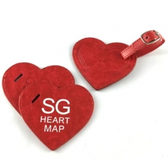 Personalised Red Heart Shaped Bag Tags Wholesale