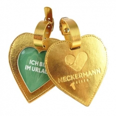 Personalized Embossed Logo Heart Shape Luggage Tags