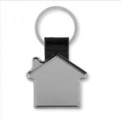 Personalized House Metal Leather Key Chains
