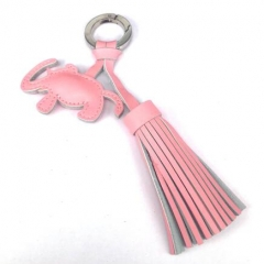 Custom Made Genuine Leather Tassel Handbag Charm