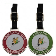 Personalized Metal Bag Tags for Gold Champion