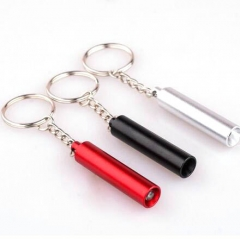 Pocket Anodized Aluminum Mini LED Torch Keyrings in Bulk
