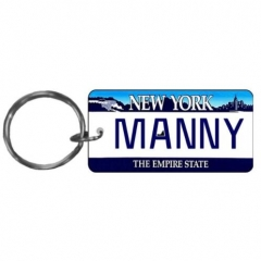 Custom Picture Printed Souvenir Plate Key Chains in Bulk