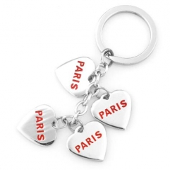 Heart Shape France Paris Souvenir Key Chain Charms