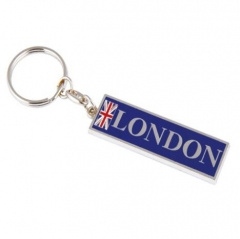 Custom Rectangle Union Jack London Key Ring Souvenir