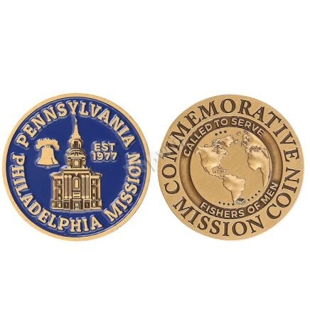 Bespoke Antique Gold Plating Commemorial Mission Coins