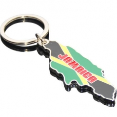 Customised Enamel Jamaica Tourist Metal Key Rings