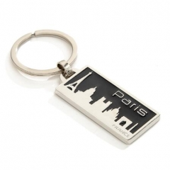 Silver Plating France Paris Metal Keychain Holder Maker