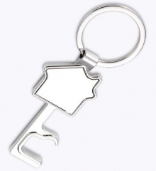 2020 New House Shape Bottle Opener Metal Key Chains